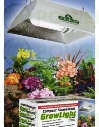 Kit 150 w Floramax CFL + Reflector Blanco Bajo Consumo Cultivo Interior