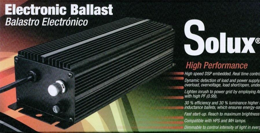 Balasto Electrónico Solux 250 W con potencia Regulable Para el cultivo interior 1