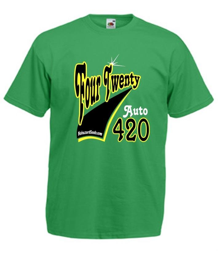 Camiseta Auto 420 Biohazard Seeds Banco de Semillas, 0