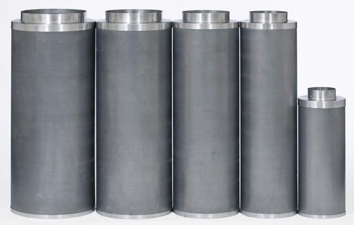 Filtro de carbón activado 800 CBM//h ø160mm