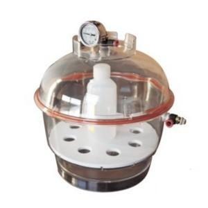 Desecador Policarbonato Vacío TRANSPARENTE para extrcción al vacío de BHO 0