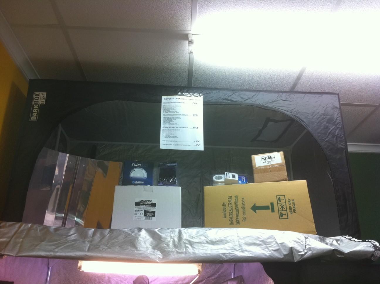 Kit armario de Cultivo Dark Box Light ECO 400w 0