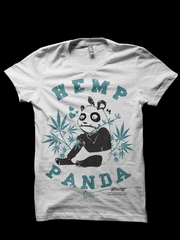Camiseta Hemp Panda de Smonkey T-Shirt Cannabica 0