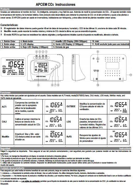 Medidor Co2 Monitor Digital Autopilot Barato 2