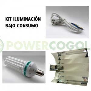 Kit Agrolite 200w CFL + Reflector Stucco 0