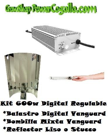 Kit 600w Digital Regulable + Bombilla mixta + Reflector Liso o Stucco 0