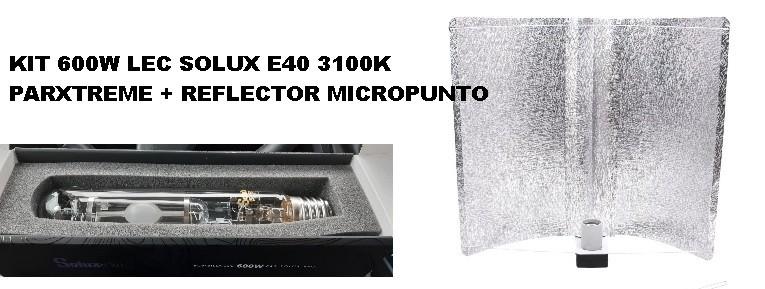 KIT 600W LEC SOLUX E40 3100K PARXTREME REFLECTOR MICROPUNTO 0