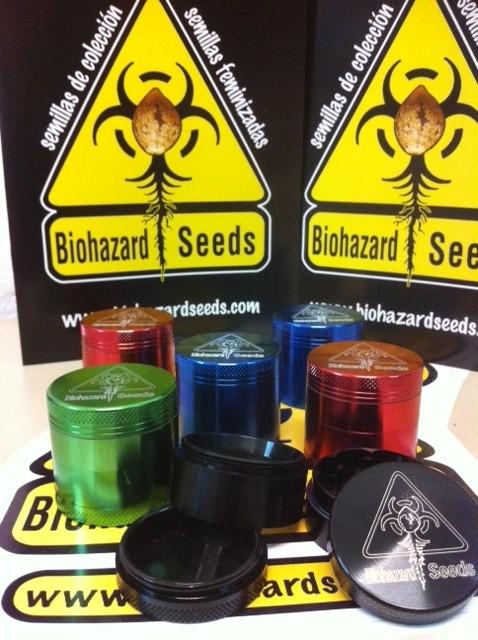Comprar Grinder Biohazard Seeds 38 mm 4 partes tamiz barato 0