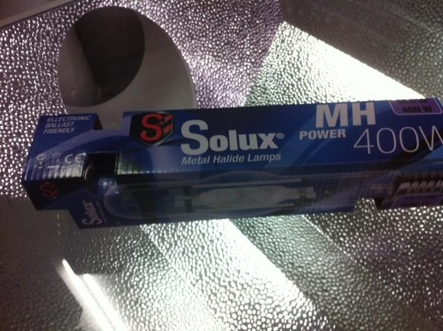 Bombilla 400w Solux Halogenuro Metálico M.H. de Crecimiento para Cultivo en Armario en Interior 1