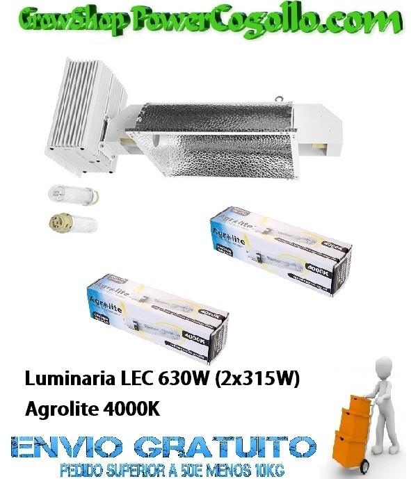 Luminaria LEC 630W (2x315W) Agrolite 4000K 0