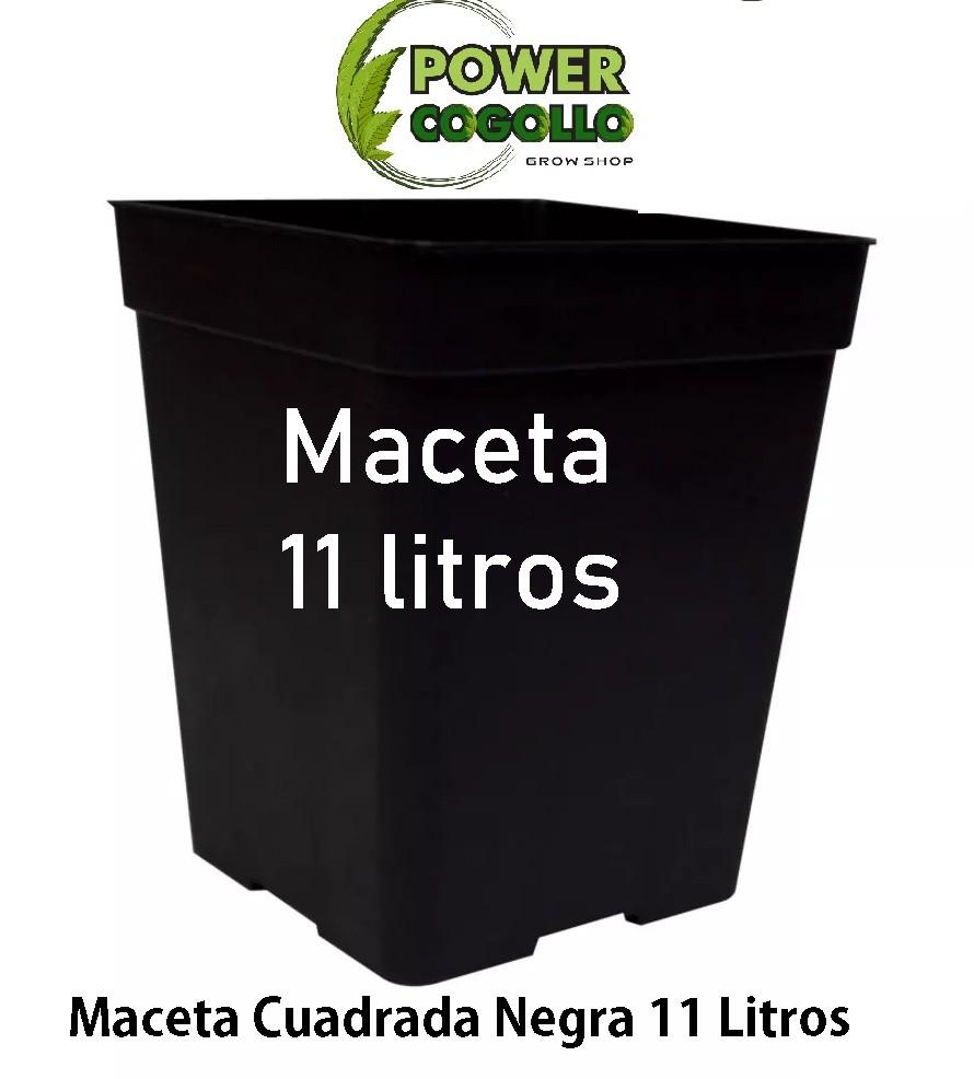 Maceta Cuadrada Negra 11 Litros (22x22x22cm) 0