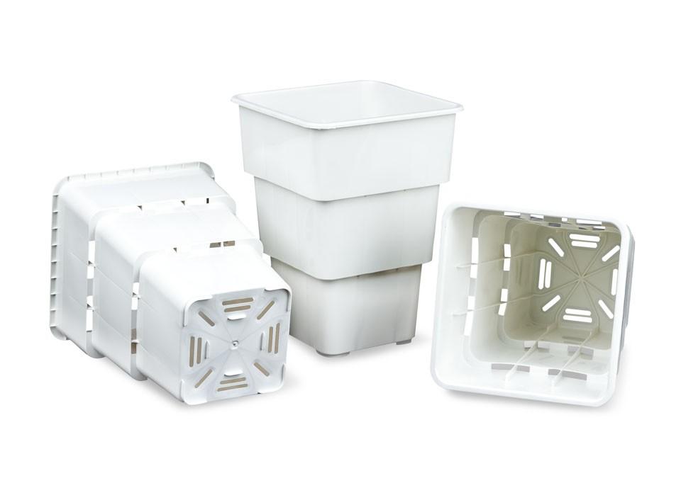 """Maceta Blanca Air Max Pot 7 Litros maceta aireada para mejorar las raíces de las plantas  Maceta Blanca Air Max Pot 7 Litros  Las macetas Air-Max Pot son una nueva generación de contenedores""""inteligentes"""" que promueven una poda natural continuada de raíce 0"""