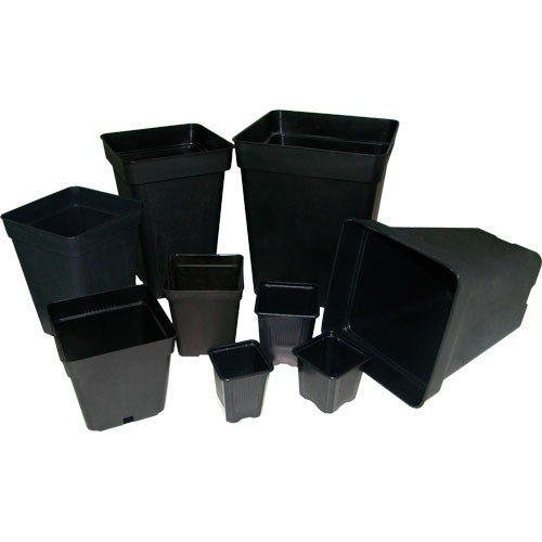Maceta Cuadrada Negra 26X26 (18 Litros)  2