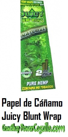 PAPEL DE CAÑAMO HEMP WRAPS JUICY BLUNT NATURAL 0