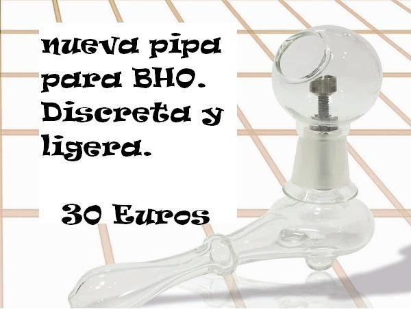 Pipa de Cristal BHO Tornillo Titanio para fumar REsinas 0