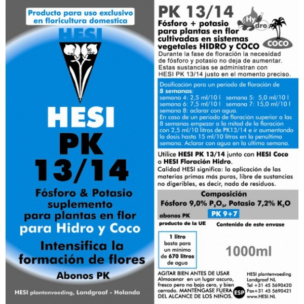 Hesi PK 13/14 Abono endurecedor Cogollos 1