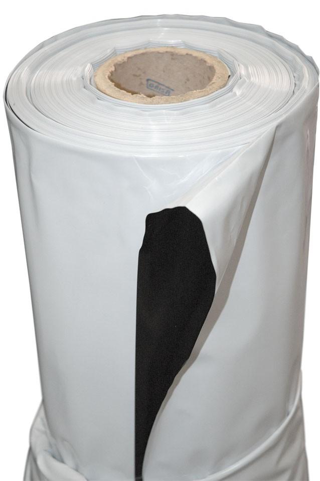 Plástico Reflectante Blanco y Negro 1