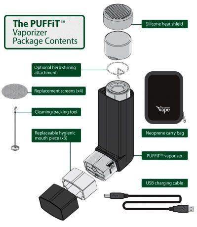 Vaporizador PUFFit Inhalador muy discreto y portátil 1