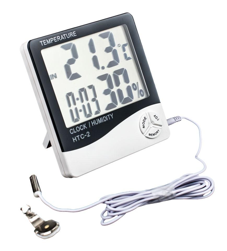 Termómetro Higrómetro Digital con Sonda Pantalla Grande (VDL) para control de temperatura en el cultivo Interior 0