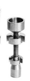 Tornillo Ajustable Titanio 14-18mm para fumar BHO y Resinas 0