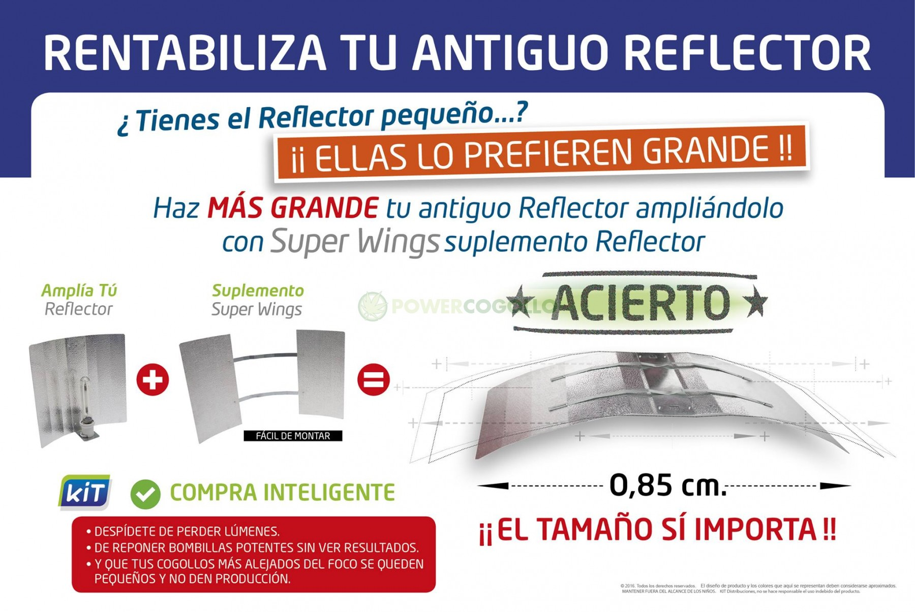 ampliacion reflector superwings, alas gaviota, adjust-a-wing barato 3