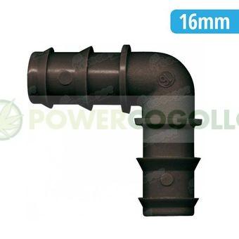 Codo 90º 16mm tubería de riego por goteo 0