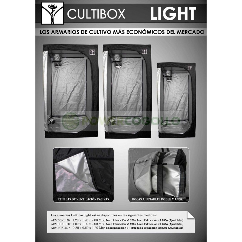 Armario Cultibox Light Plata Barato Cultivo interior 2