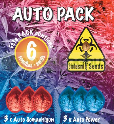 Auto Pack 6 Semillas (Biohazard Seeds) Feminizadas Cannabis-Marihuana Autofloración 0