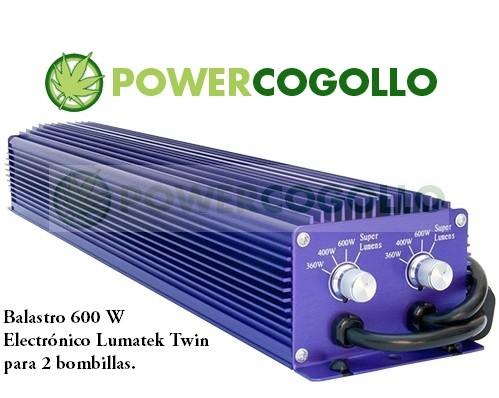 Balastro 600 W Electrónico Lumatek Twin 0