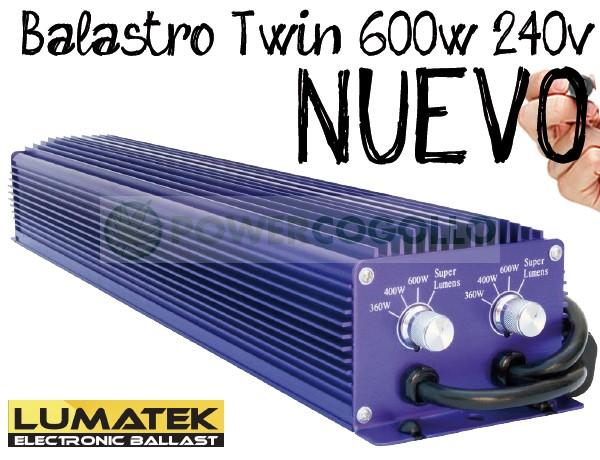 Balastro 600 W Electrónico Lumatek Twin 1