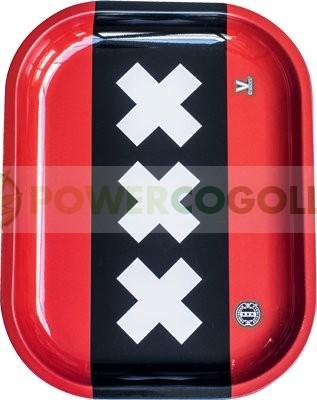 Bandeja Metálica modelo XXX Amsterdam para liar  1