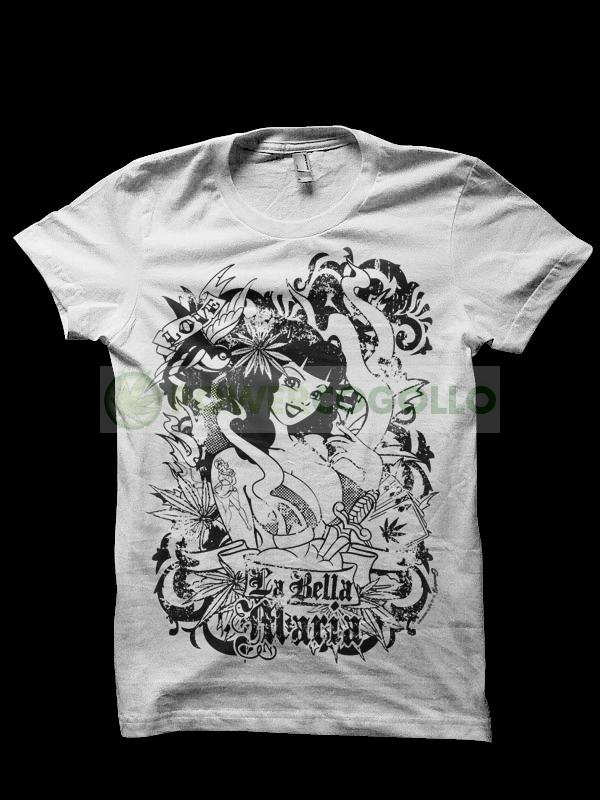 Camiseta de La Bella Maria de Smonkey-Cannabis T-Shirt 0