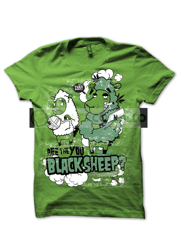 Camiseta Black Sheep de Smonkey T-Shirts Cannabicas 0