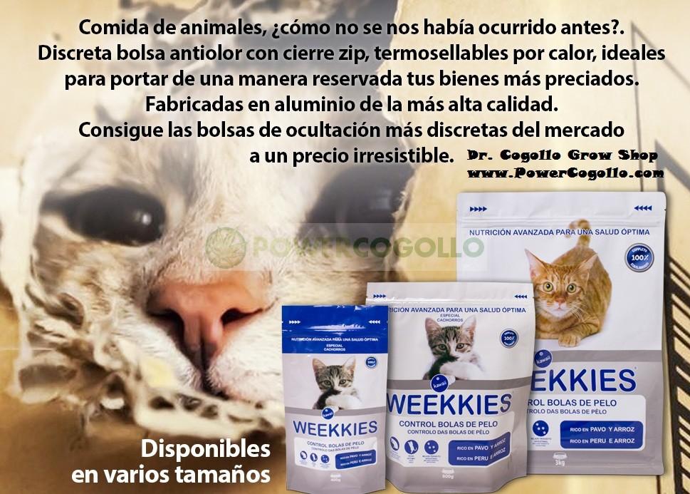 Bolsa Hermética de Ocultación Weekkies 3kg comida de gatos 2