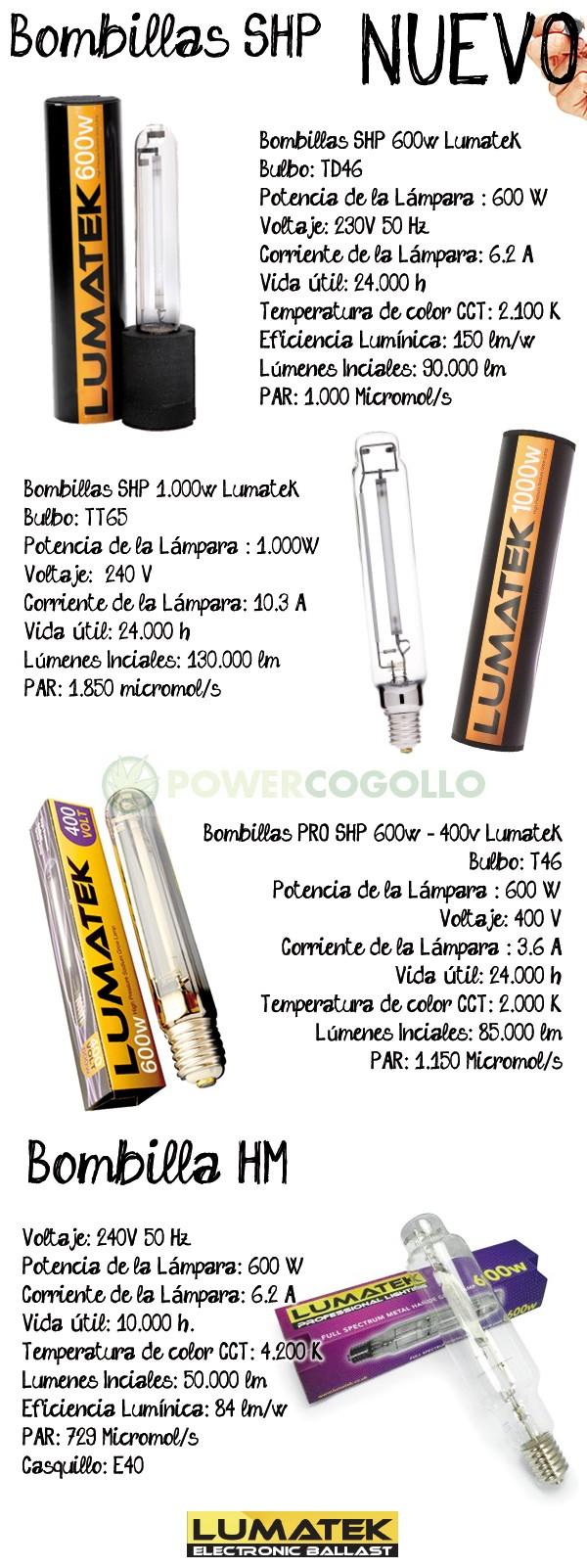 Bombilla Lumatek SHP 1000W (Mixta) 2