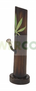 Bong Bambú Hoja de Marihuana de 29cm 0