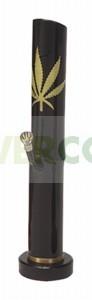 Bong Bambú Hoja de Marihuana Negro 35cm 0