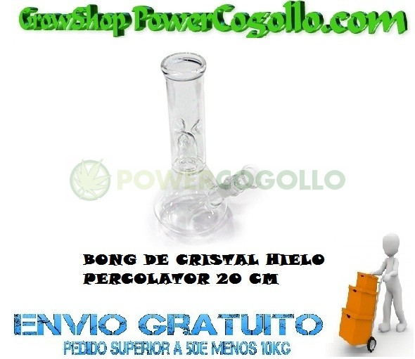 BONG CRISTAL HIELO PERCOLATOR 20 CM 0