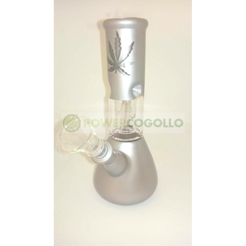 BONG CRISTAL PERCOLATOR 20CM-gris-plata 2