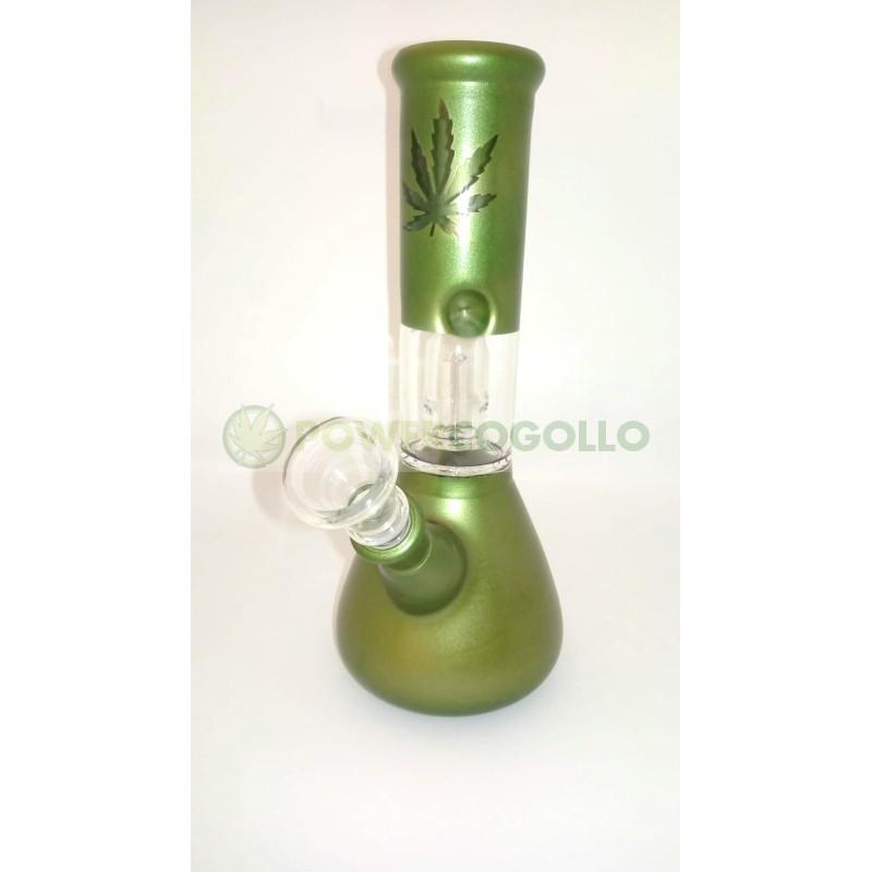 BONG CRISTAL PERCOLATOR 20CM-Verde 0