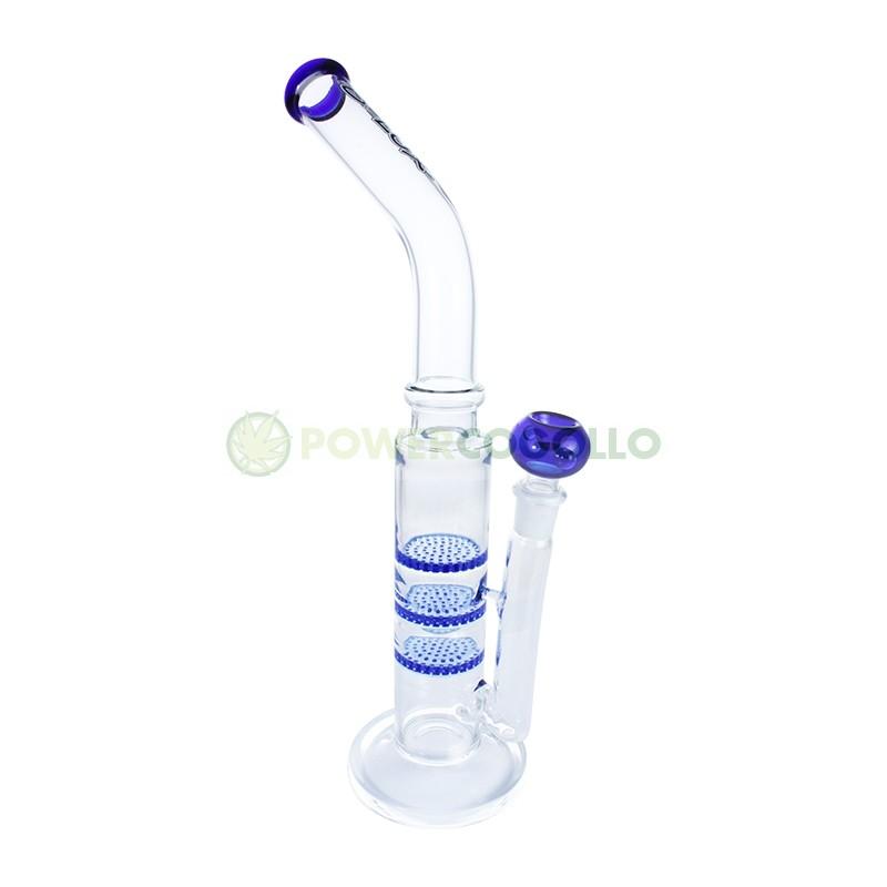 Bong D-Lux Triple Difusor de Cristal 40cm Azul 2