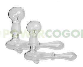 Pipa Cristal con Tornillo de Borosilicato Barata para fumar BHO 0