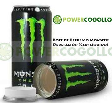 Bote Refresco Monster Ocultación (Con líquido) 0