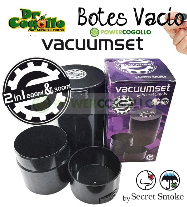 Botes de vacío 600ml + 300ml (Secret Smoke) 0