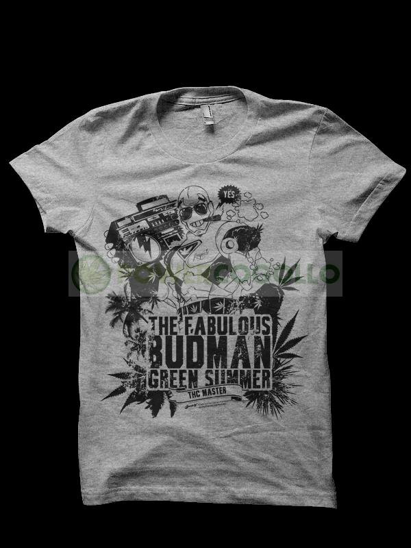 Camiseta The Fabulous Budman de Smonkey T-Shirt Marihuana 0