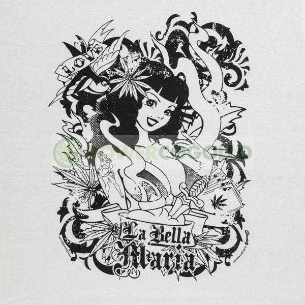 Camiseta de La Bella Maria de Smonkey-Cannabis T-Shirt 2