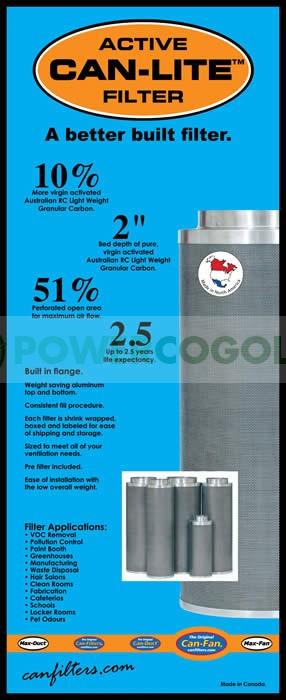 Filtro Can-Lite 1500 m3/h 75 cm Boca 250mm 0