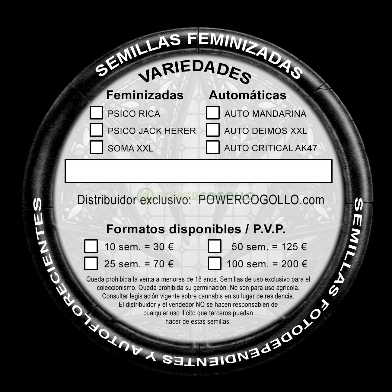 Semilla Feminizada Soma XXL (Cannabis Seeds) 1