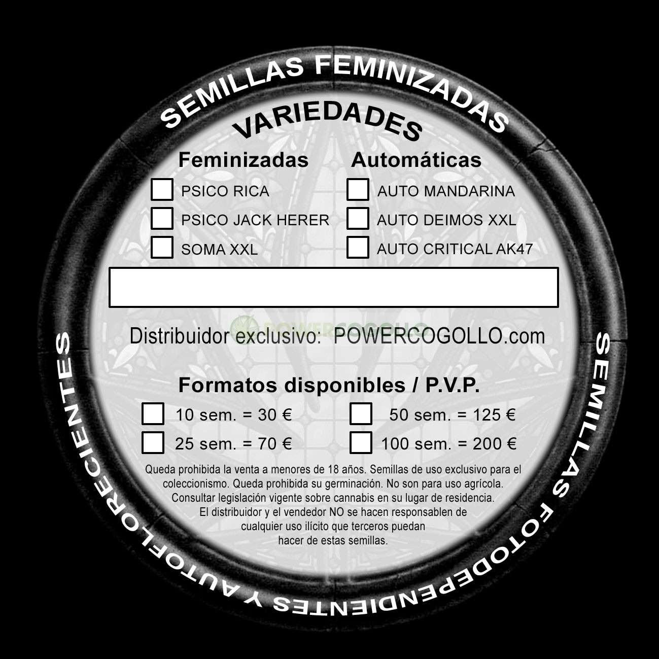 Psico Sugar (Cannabis Seeds) Feminizada  1
