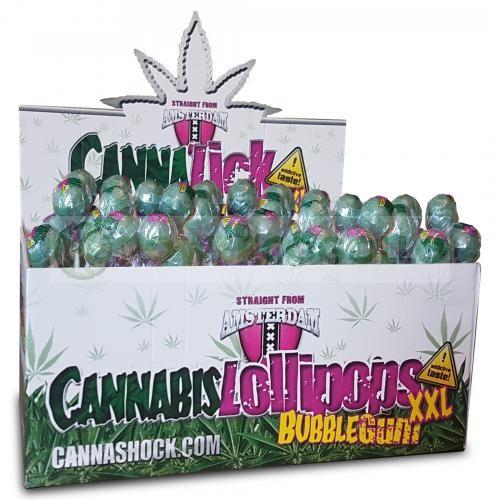 CannaLick Chupa Chup Green Bubblegum (Cannashock)  0